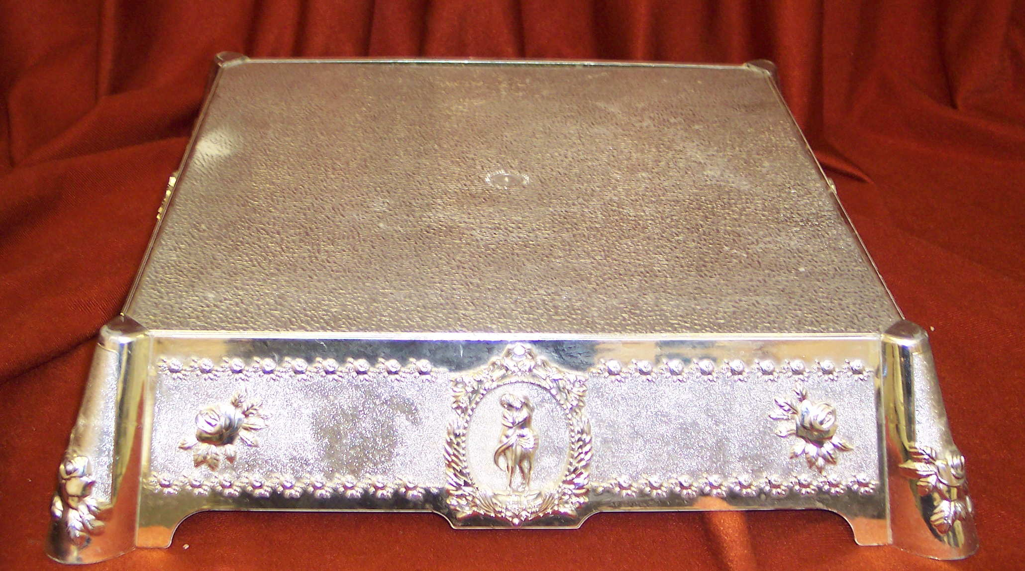Square Silver Cake Stand Uk