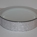 18 inch Round Diamante Cake stand with mirror top