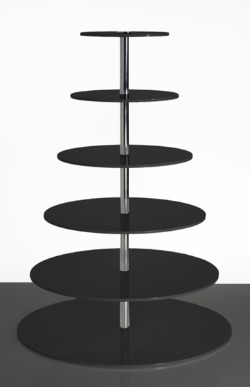 2 -7 tier acrylic round, black
