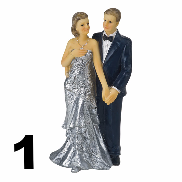 25th wedding anniversary toppers 2 design available for Silver wedding dresses 25th anniversary