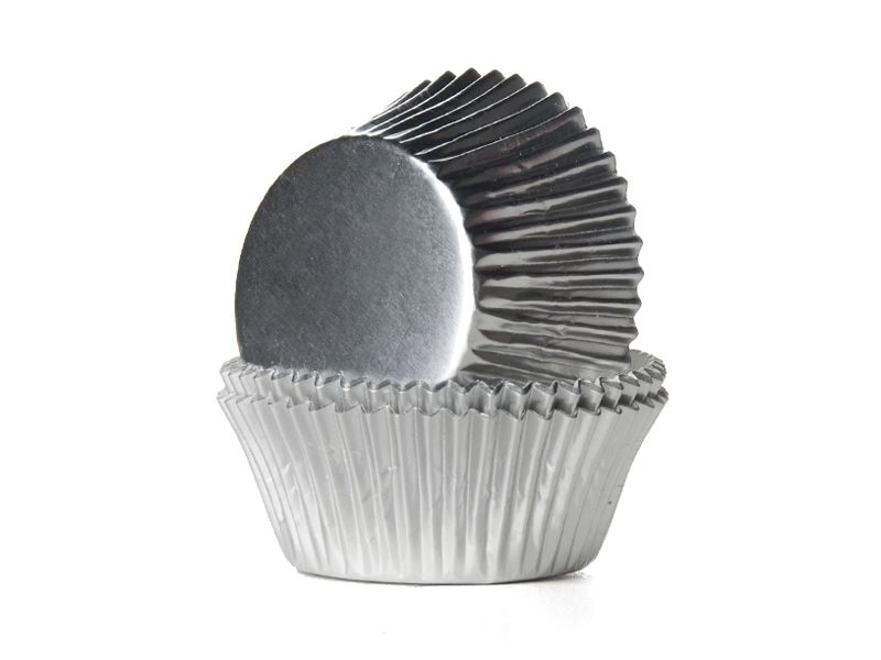 56 Silver Muffin Cases