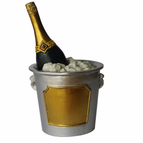 Champagne Ice Bucket Cake Topper