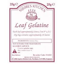 SQUIRES LEAF GELATIN (10 SHEETS)
