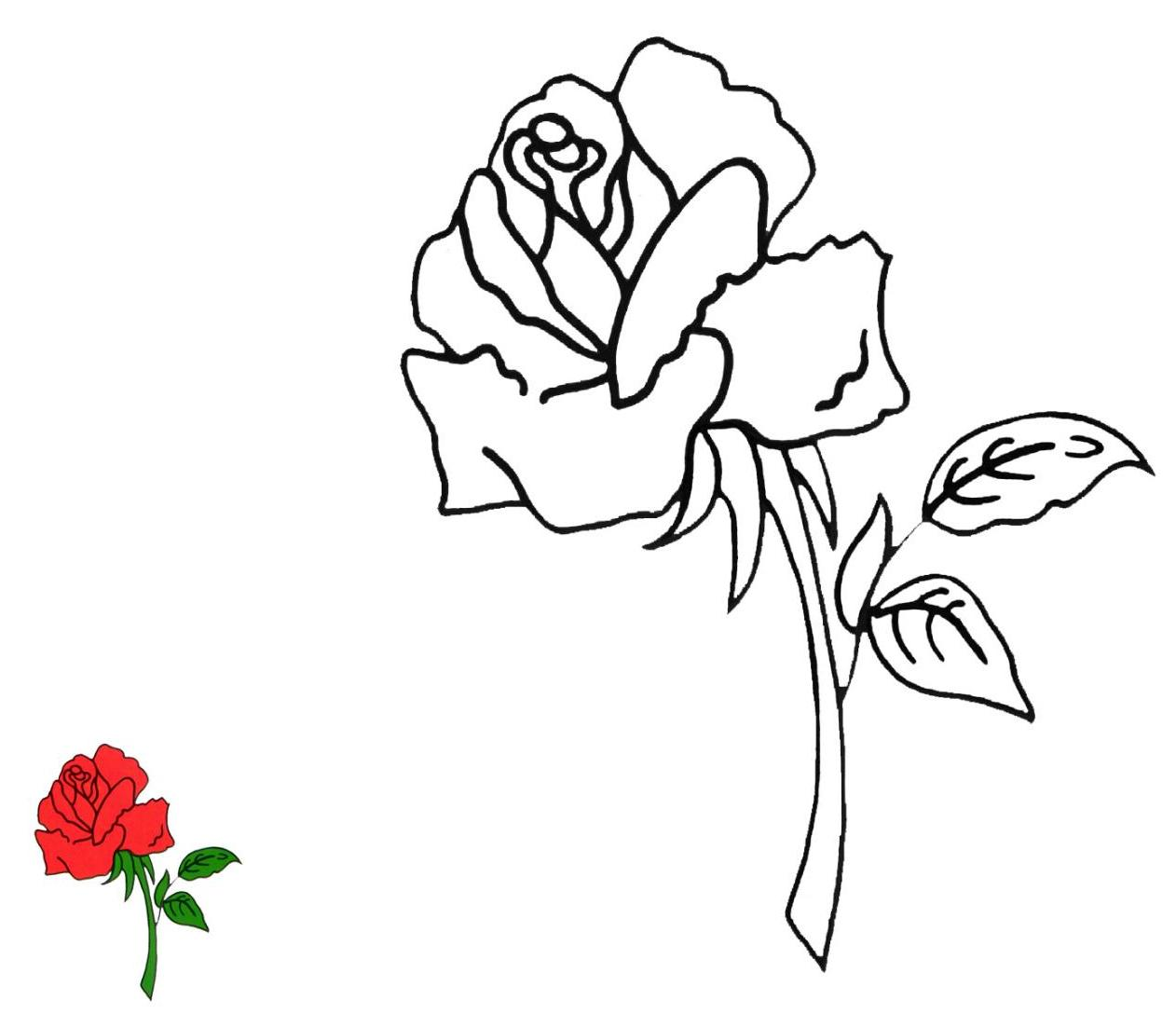 Peaceful image with roses templates printable